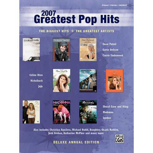 ALFRED PUBLISHING 2007 GREATEST POP HITS - PVG
