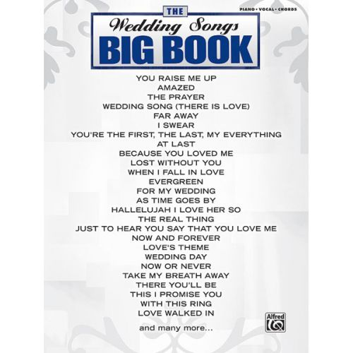 ALFRED PUBLISHING BIG BOOK: WEDDING SONGS - PVG