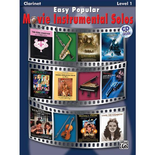ALFRED PUBLISHING EASY POPULAR MOVIE SOLOS + CD - CLARINET SOLO