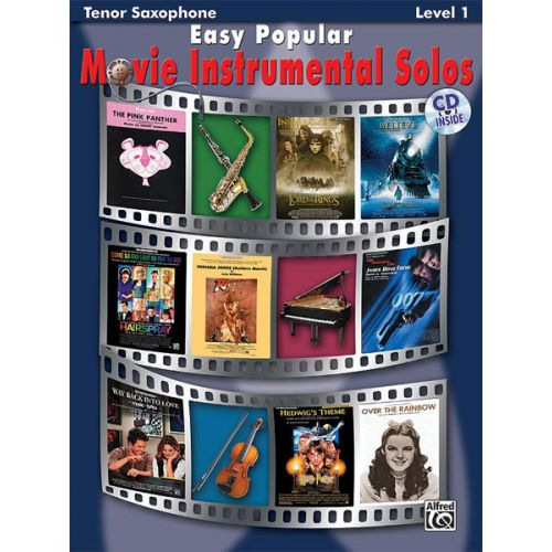 ALFRED PUBLISHING EASY POPULAR MOVIE SOLOS + CD - SAXOPHONE AND PIANO