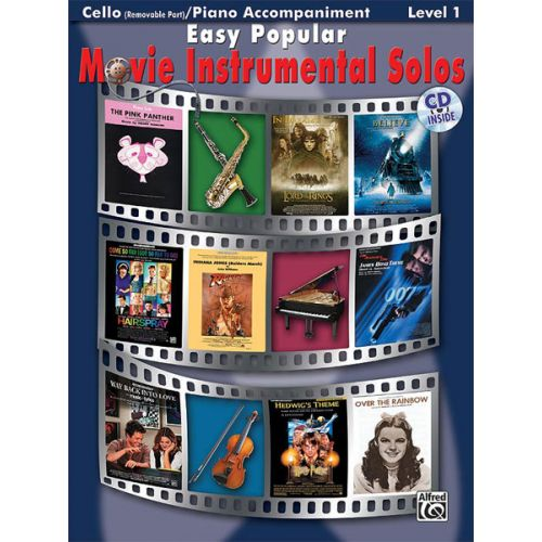 ALFRED PUBLISHING EASY POPULAR MOVIE SOLOS + CD - CELLO SOLO