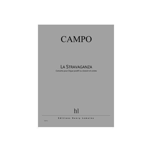 JOBERT CAMPO REGIS - CONCERTO - LA STRAVAGANZA - ORGUE POSITIF (OU CLAVECIN) ET CORDES