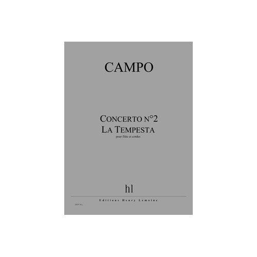 JOBERT CAMPO REGIS - CONCERTO N.2 - LA TEMPESTA - FLUTE ET CORDES