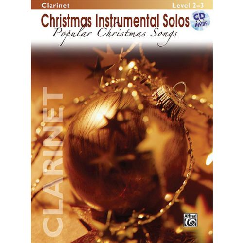 ALFRED PUBLISHING POPULAR CHRISTMAS SONGS + CD - CLARINET SOLO