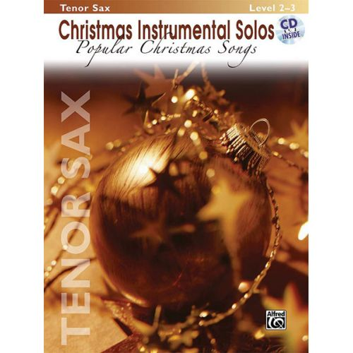 ALFRED PUBLISHING POPULAR CHRISTMAS SONGS + CD - SAXOPHONE AND PIANO
