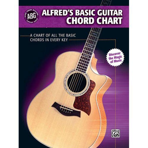 ALFRED PUBLISHING ALFRED'S BASIC GUITAR CHORD CHART - GUITAR