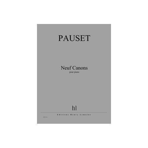 JOBERT PAUSET BRICE - CANONS (9) - PIANO