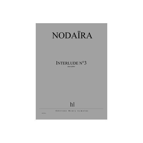 JOBERT NODAIRA ICHIRO - INTERLUDE N.3 - PIANO