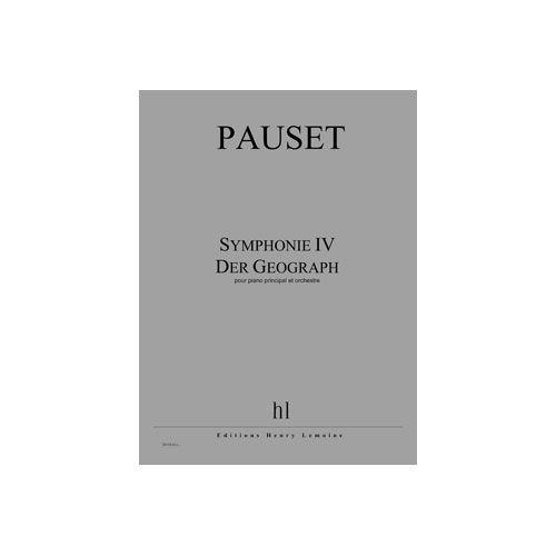 JOBERT PAUSET BRICE - SYMPHONIE IV - DER GEOGRAPH - PIANO PRINCIPAL ET ORCHESTRE