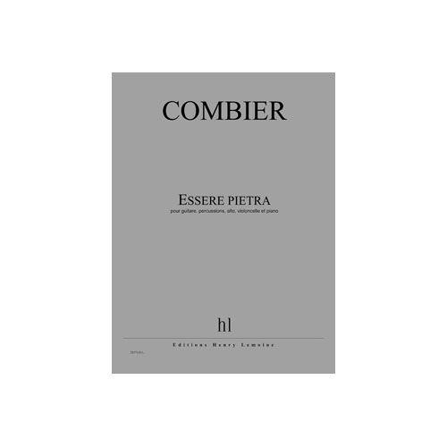 JOBERT COMBIER JEROME - ESSERE PIETRA - GUITARE, PERCUSSIONS, ALTO, VIOLONCELLE ET PIANO