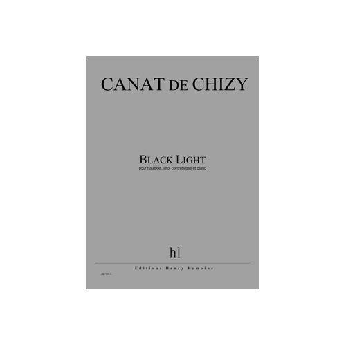 JOBERT CANAT DE CHIZY EDITH - BLACK LIGHT - HAUTBOIS, ALTO, CONTREBASSE ET PIANO