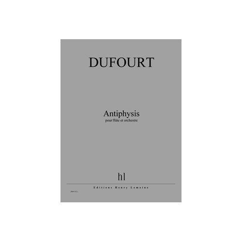 JOBERT DUFOURT HUGUES - ANTIPHYSIS - FLUTE ET ORCHESTRE
