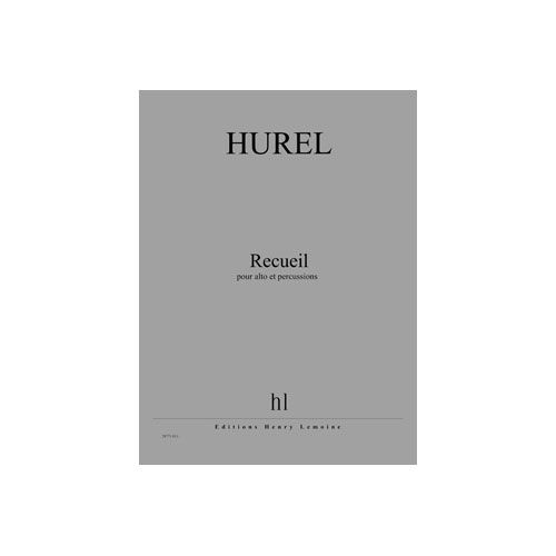 JOBERT HUREL PHILIPPE - RECUEIL - ALTO ET PERCUSSIONS