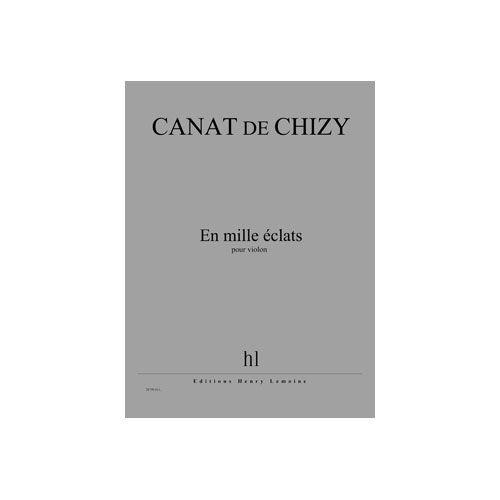 JOBERT CANAT DE CHIZY EDITH - EN MILLE ECLATS - VIOLON