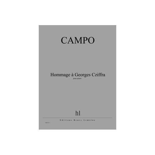 JOBERT CAMPO REGIS - HOMMAGE A GEORGES CZIFFRA - PIANO