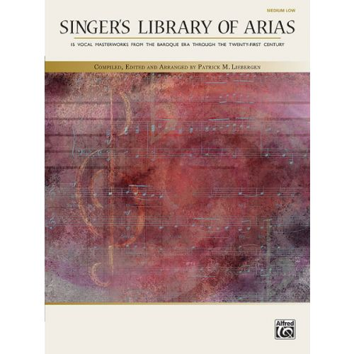 ALFRED PUBLISHING SINGERS LIBRARY ARIAS + CD - MIDDLE VOICE