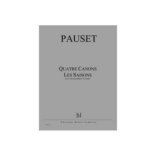 JOBERT PAUSET BRICE - CANONS (4) - LES SAISONS - VIOLON PRINCIPAL ET 13 CORDES