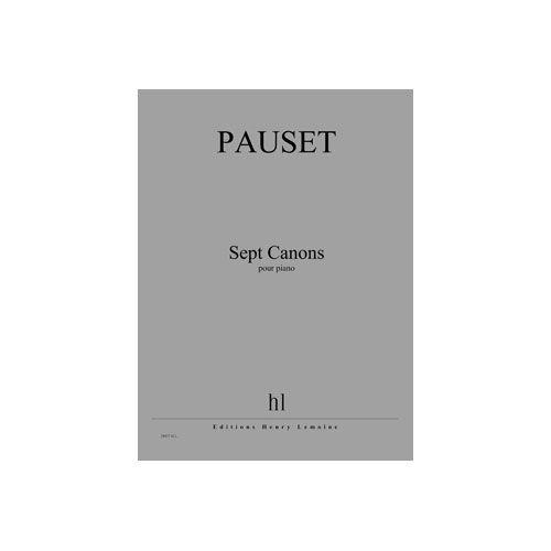 JOBERT PAUSET BRICE - CANONS (7) - PIANO