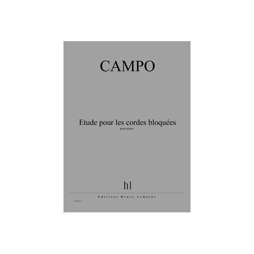 JOBERT CAMPO REGIS - ETUDE POUR LES CORDES BLOQUEES - PIANO