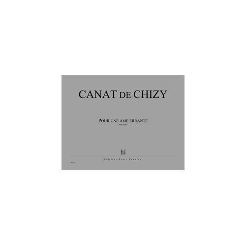 JOBERT CANAT DE CHIZY EDITH - POUR UNE AME ERRANTE - ORGUE