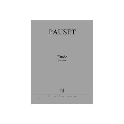 JOBERT PAUSET BRICE - ETUDE - PIANO