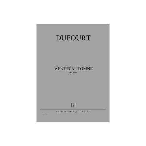 JOBERT DUFOURT HUGUES - VENT D'AUTOMNE - PIANO