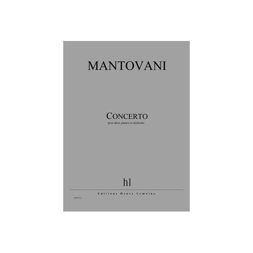 JOBERT MANTOVANI BRUNO - CONCERTO POUR DEUX PIANOS - 2 PIANOS ET ORCHESTRE