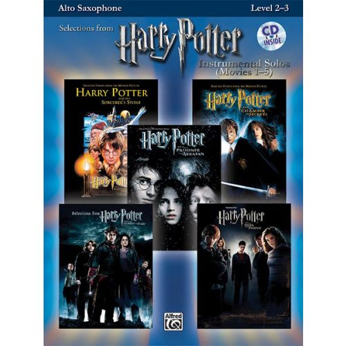 ALFRED PUBLISHING HARRY POTTER SOLOS + CD - SAXOPHONE ALTO