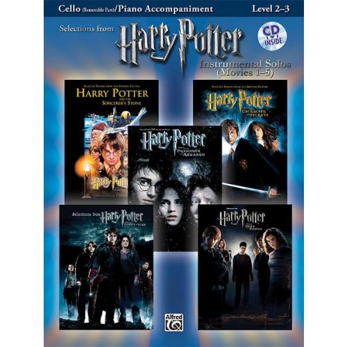 ALFRED PUBLISHING HARRY POTTER SOLOS + CD - CELLO SOLO