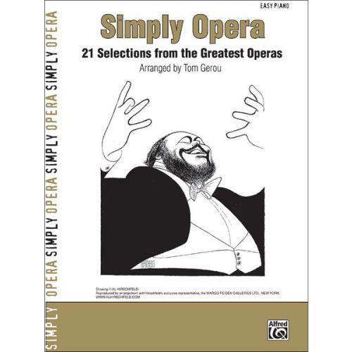 ALFRED PUBLISHING GEROU TOM - SIMPLY OPERA - PIANO SOLO