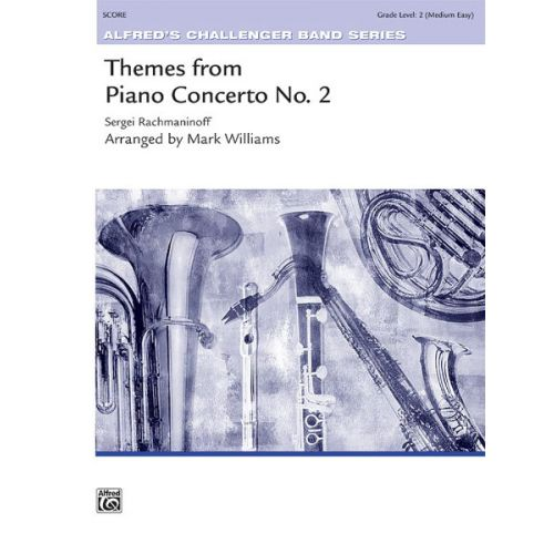 ALFRED PUBLISHING THEMES FROM PIANO CONCERTO NO 2 - SYMPHONIC WIND BAND