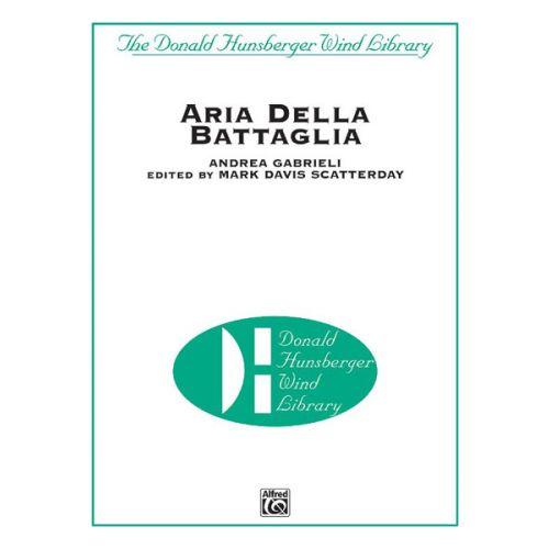 ALFRED PUBLISHING ARIA DELLA BATTAGLIA - SYMPHONIC WIND BAND