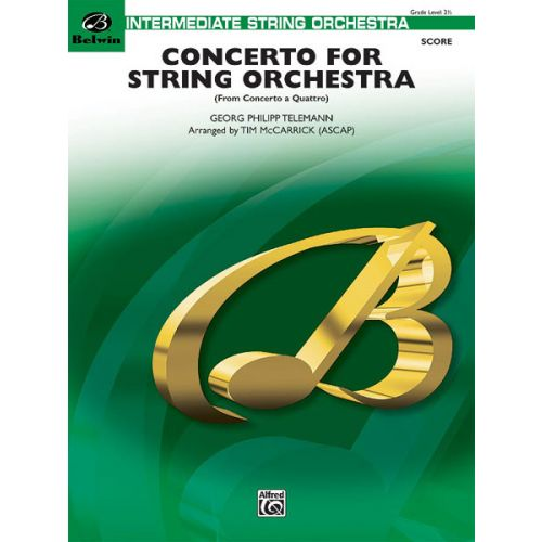 ALFRED PUBLISHING CONCERTO FOR STRING ORCHESTRA - STRING ORCHESTRA