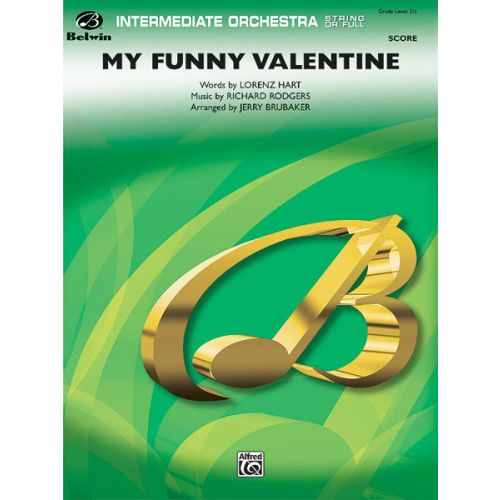 ALFRED PUBLISHING MY FUNNY VALENTINE - FULL ORCHESTRA
