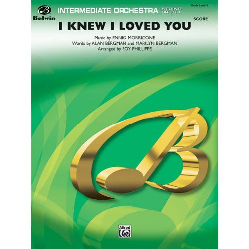 ALFRED PUBLISHING I KNEW I LOVED YOU - FULL ORCHESTRA
