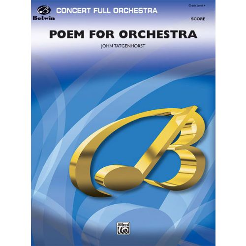 ALFRED PUBLISHING POEM FOR ORCHESTRA - FULL ORCHESTRA