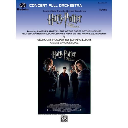 ALFRED PUBLISHING LOPEZ VICTOR - HARRY POTTER ORDER OF PHOENIX - FULL ORCHESTRA