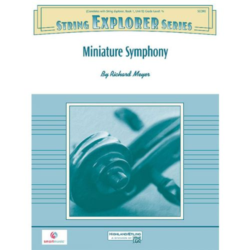ALFRED PUBLISHING MINIATURE SYMPHONY - STRING ORCHESTRA