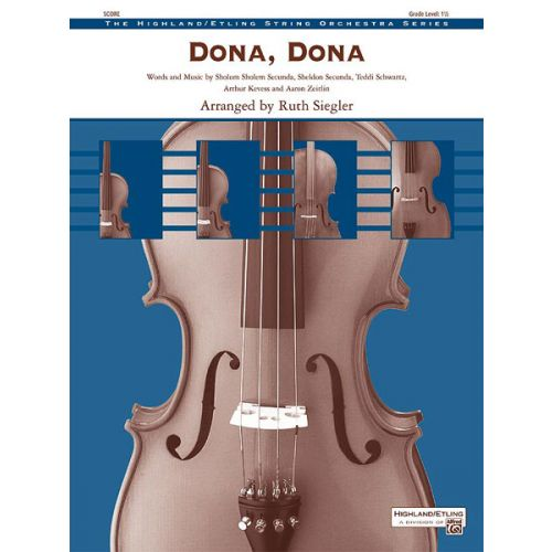 ALFRED PUBLISHING DONA DONA - STRING ORCHESTRA