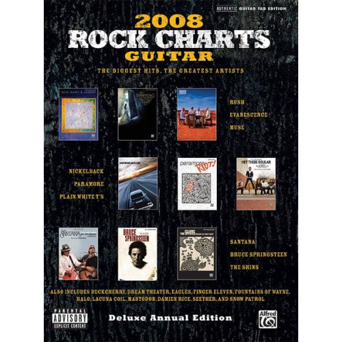 ALFRED PUBLISHING 2008 ROCK CHARTS GUITAR - GUITAR TAB
