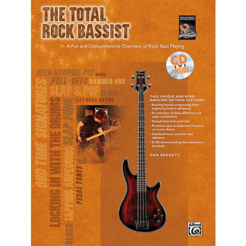 ALFRED PUBLISHING THE TOTAL ROCK BASSIST - BASS GUITAR