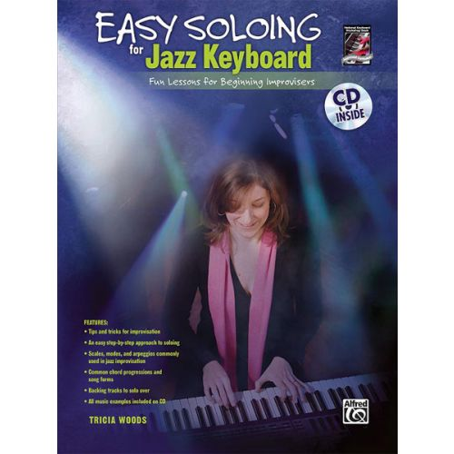 ALFRED PUBLISHING WOODS TRICIA - EASY SOLOING JAZZ KEYBOARD + CD - ELECTRONIC KEYBOARD