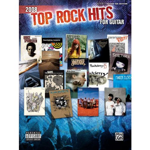 ALFRED PUBLISHING 2008 TOP ROCK HITS FOR GUITAR - GUITAR TAB