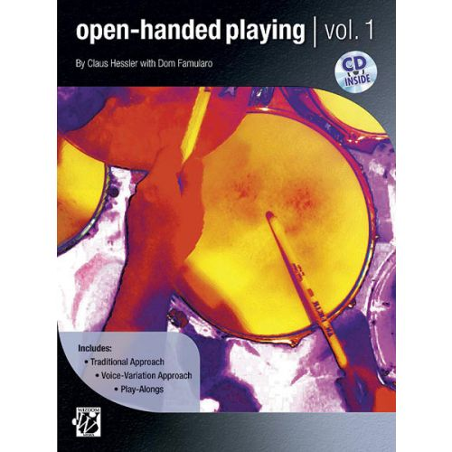 ALFRED PUBLISHING HESSLER AND FAMULARO - OPEN HANDED PLAYING 1 + CD - DRUM