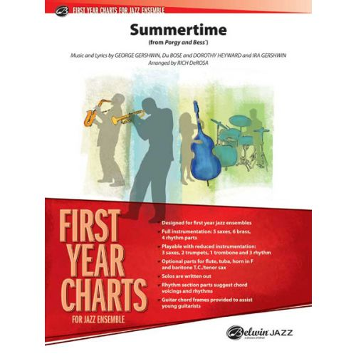 ALFRED PUBLISHING GERSHWIN GEORGE - SUMMERTIME - JAZZ BAND