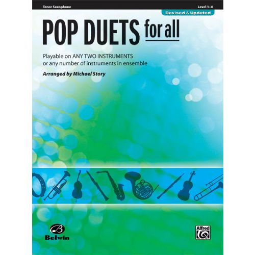 ALFRED PUBLISHING STORY MICHAEL - POP DUETS FOR ALL - TENOR SAXOPHONE