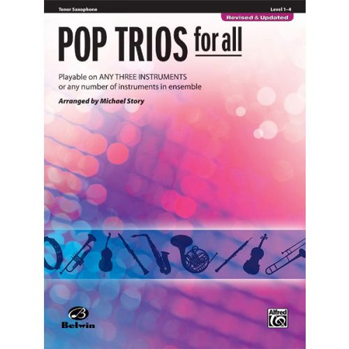 ALFRED PUBLISHING STORY MICHAEL - POP TRIOS FOR ALL - TENOR SAXOPHONE