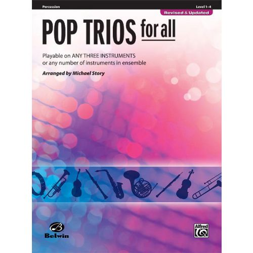 ALFRED PUBLISHING STORY MICHAEL - POP TRIOS FOR ALL - PERCUSSION