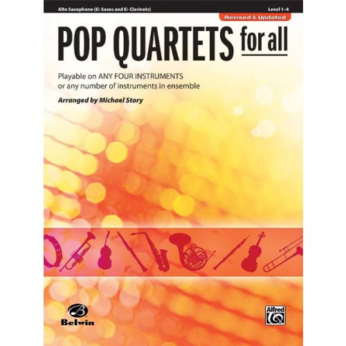 ALFRED PUBLISHING STORY MICHAEL - POP QUARTETS FOR ALL - SAXOPHONE AND PIANO