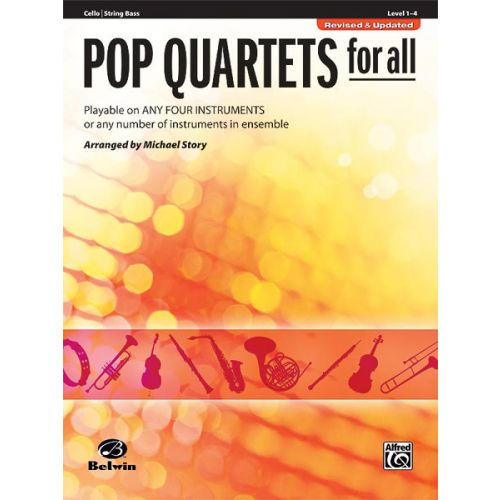 ALFRED PUBLISHING STORY MICHAEL - POP QUARTETS FOR ALL - CELLO SOLO